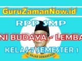 (Lengkap)-RPP SENI BUDAYA 1 Lembar Kelas VII Semester 1