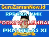 RPP 1 Lembar PKN Kelas XI