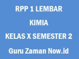 RPP 1 Lembar Kimia Kelas 10 Semester 2 Revisi 2020
