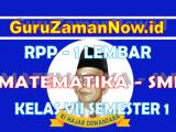 (Lengkap)-RPP Matematika 1 Lembar Kelas VII Semester 1