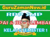 RPP PAI – BP 1 Lembar Kelas VIII Semester 1