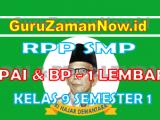 RPP PAI – BP 1 Lembar Kelas IX Semester 1