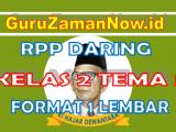 RPP Daring / Online Kelas 2 Tema 5