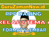 RPP Daring / Online Kelas 2 Tema 6