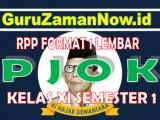 RPP PJOK 1 Lembar Kelas 11Semester 1