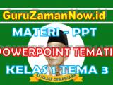 Materi PPT / Powerpoint Kelas 1 Tema 3 Semester 1