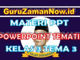 Materi PPT / Powerpoint Kelas 3 Tema 3 Semester 1