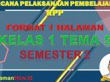 RPP K13 1 Lembar SD Kelas 1 Tema 5