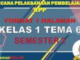 RPP 1 Lembar Kelas 1 Tema 6