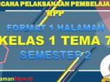 RPP 1 Lembar Kelas 1 Tema 7