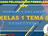 RPP 1 Lembar Kelas 1 Tema 8