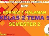 RPP 1 Lembar Kelas 2 Tema 5