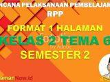 RPP 1 Lembar Kelas 2 Tema 6