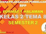 RPP 1 Lembar Kelas 2 Tema 8