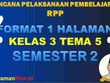 RPP 1 Lembar Kelas 3 Tema 5