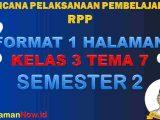 RPP 1 Lembar Kelas 3 Tema 7