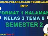 RPP 1 Lembar Kelas 3 Tema 8