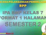 RPP 1 Lembar IPA Kelas 7 Semester 2 Revisi 2020