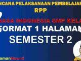 RPP 1 Lembar Bahasa Indonesia Kelas 7 Semester 2 Revisi 2020
