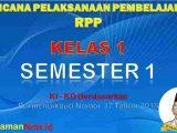 RPP Kelas 1 Semester 1