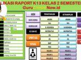 Aplikasi Raport K13 Kelas 2 Semester 2