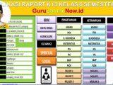 Aplikasi Raport K13 Kelas 6 Semester 2