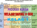Program Harian Pembelajaran Jarak Jauh Daring dan Luring Kelas 1