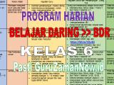 Program Harian Pembelajaran Jarak Jauh Daring dan Luring Kelas 6