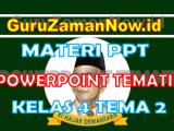 Materi PPT / Powerpoint Kelas 4 Tema 2 Semester 1