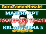 Materi PPT / Powerpoint Kelas 4 Tema 3 Semester 1