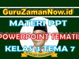 Materi PPT / Powerpoint Kelas 4 Tema 7 Semester 2