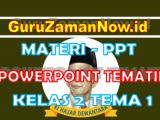 Materi PPT / Powerpoint Kelas 2 Tema 1 Semester 1