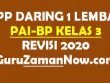Contoh RPP Daring PAI SD Kelas 3 Semester 1