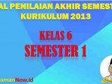 Soal PAS SD Kelas 6 Semester 1