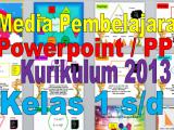 Download Media Ajar PowerPoint (PPT) Kelas 1,2,3,4,5 dan 6