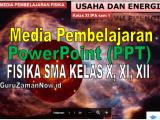 Download Media Ajar PowerPoint (PPT) Fisika SMA Kelas 10,11 dan 12