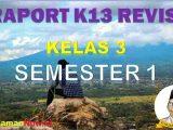 Raport K13 Kelas 3 Semester 1