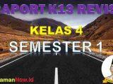 Raport K13 Kelas 4 Semester 1
