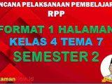 RPP 1 Lembar Kelas 4 Tema 7