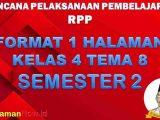 RPP 1 Lembar Kelas 4 Tema 8