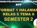 RPP 1 Lembar Kelas 5 Tema 6