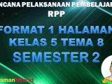 RPP 1 Lembar Kelas 5 Tema 8