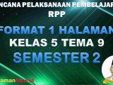 RPP 1 Lembar Kelas 5 Tema 9