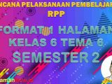 RPP 1 Lembar Kelas 6 Tema 6