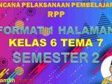 RPP 1 Lembar Kelas 6 Tema 7