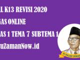 Soal Kelas 1 Tema 7 Subtema 1 Tugas Online