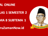 Soal Kelas 1 Tema 8 Subtema 1 Tugas Online